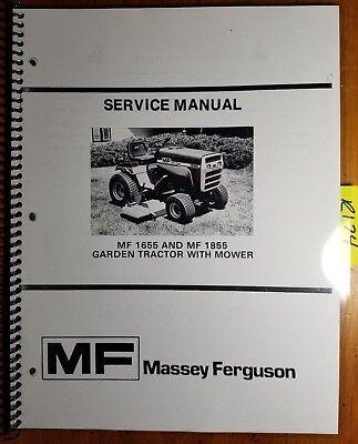 Massey Ferguson Mf 1655 1855 Garden Tractor With Mower Service Manual 878