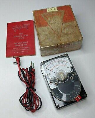 Triplett Model 310 Vom Multimeter W Original Box Manual Leads - Voltmeter
