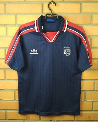 49b98c4d6 England soccer jersey kids vintage retro size young shirt football Umbro