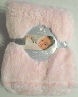 Pink Fluffy Lights (Adirondack Baby Warm & Fluffy Blanket Lightweight Long Plush 30x40 Light)