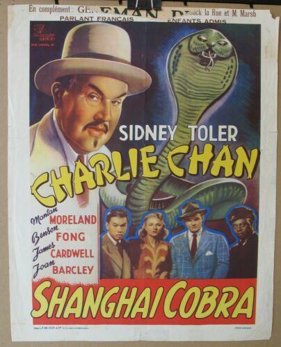 SHANGHAI COBRA 1945 Original Release Belgian Poster, Charlie Chan, Sidney Toler
