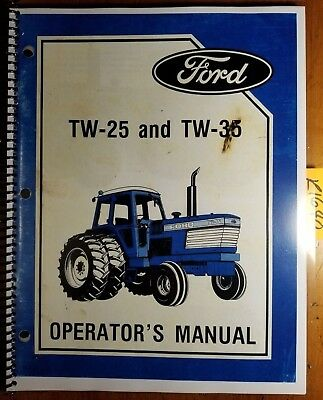 Ford Tw-25 Tw-35 Tractor 1985-86 Owners Operators Manual Se 4431 2855 285