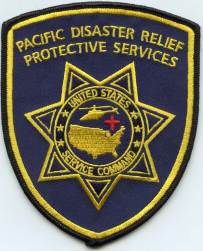 PACIFIC DISASTER RELIEF PROTECTIVE SERVICES Search & Rescue HAWAII POLICE PATCH