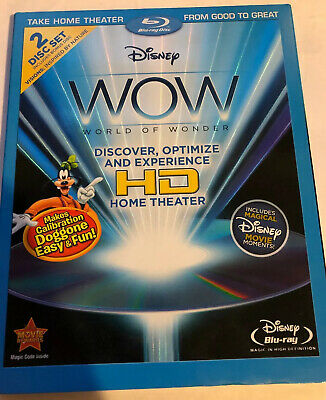 Disney WOW World of Wonder Optimize Home Theater HDTV (2 Blu-ray Set) w/