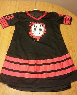 Licensed miss jason voorhees sexy dress friday the 13th adult slip jersey mini ()