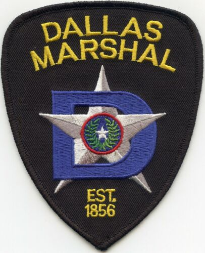 DALLAS TEXAS TX The Big D MARSHAL police PATCH