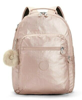 Kipling CLAS SEOUL Backpack with Laptop Compartment - Metallic Blush