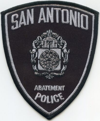 new style SAN ANTONIO TEXAS TX subdued ABATEMENT POLICE PATCH