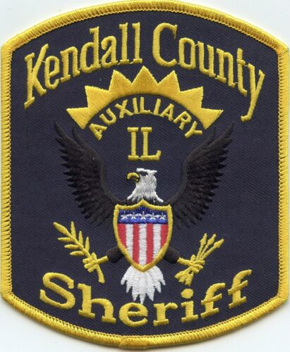 KENDALL COUNTY ILLINOIS IL AUXILIARY SHERIFF POLICE PATCH