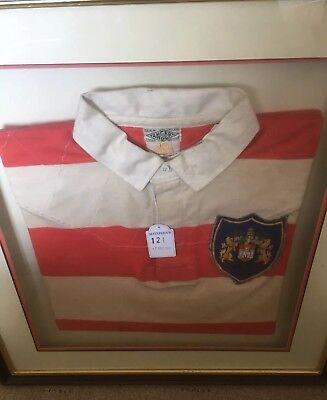 WIGAN WARRIORS RLFC  JIM SULLIVAN Shirt Framed Sotheby's 1999 Codebreaker Rugby