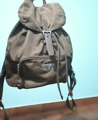 VINTAGE AUTHENTIC BROWN PRADA BACKPACK PREOWNED