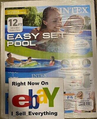 Intex 12 ft X 30 in Easy Set Pool Set with Filter Pump New In Box 🚚SHIPS NOW🚚