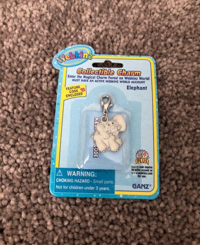 Webkinz Collectible Charm - ELEPHANT - New w/ Unused Code