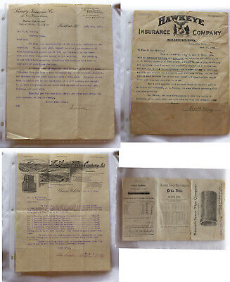 1900-1910 ORNATE LETTERHEAD STATIONARY & AUSTIN-WESTERN CO. PRICE LIST - 4 ITEMS