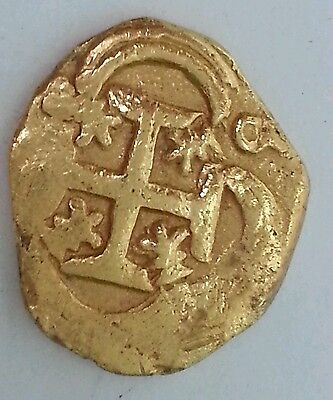 Click now to see the BUY IT NOW Price! GOLD COIN 2 ESCUDO PHILIP IV MID 1600'S COB COIN  TREASURE