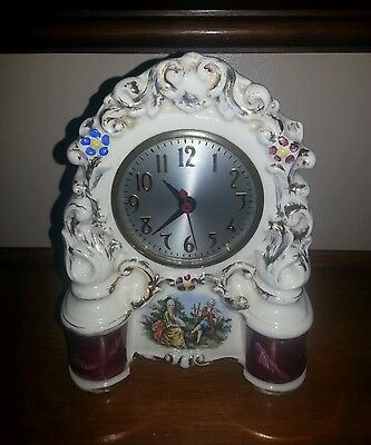 Vintage Porcelain Electric Mantle Clock. Excellent Working Condition!