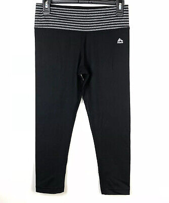 RBX Leggings Measure assess Small Womens Activewear Yoga Gray Black Capri Crop Athletic