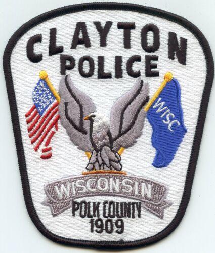 CLAYTON Polk County WISCONSIN WI POLICE PATCH