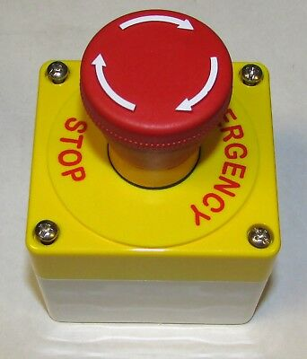 Eaton Cutler Hammer E22at111 Emergency Stop Push Button Station Red Mushroom