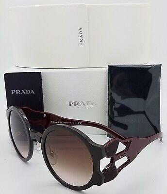 New Prada sunglasses PR13US DHO0A6 54mm Round Brown Gradient PR 13 GENUINE 13US