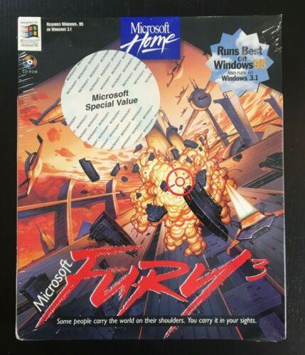 Microsoft Home Fury 3 Big Box PC Game Software (Sealed) 1995