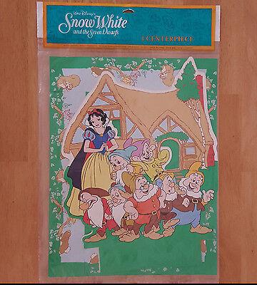 Snow White Centerpieces (Snow White and the Seven Dwarfs Centerpiece Vintage Party Decoration NOS)