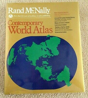 VINTAGE Rand McNally  Contemporary World Atlas