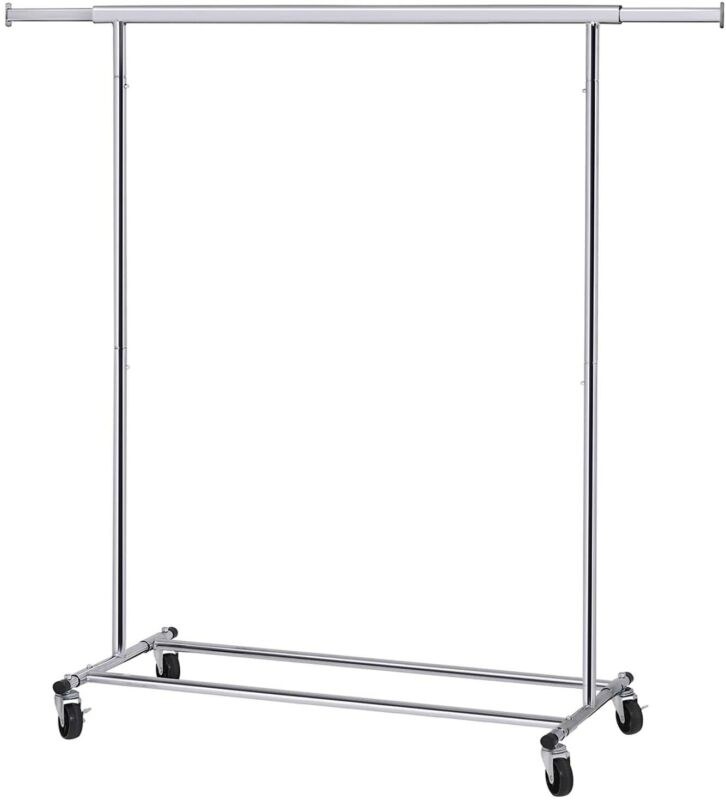 SONGMICS Heavy Duty Clothes Rack 90 kg Load with Wheels Extendable Collapsible I