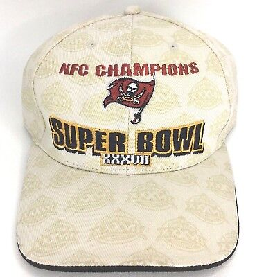 7490bf945 Tampa Bay Buccaneers 2002 NFC Champions Super Bowl XXXVII Cap Hat Reebok NFL