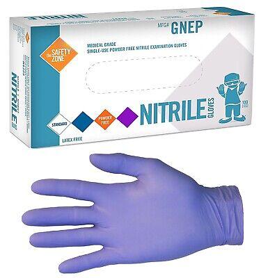 New Box 100 Powder Latex Free Indigo Nitrile 5 Mil Heavy-duty Gloves - Medium