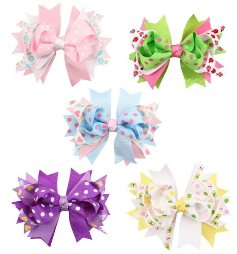 Beautiful Cloth Fashion Bow Hair Accessories for girls 5 piece set Free Shipping