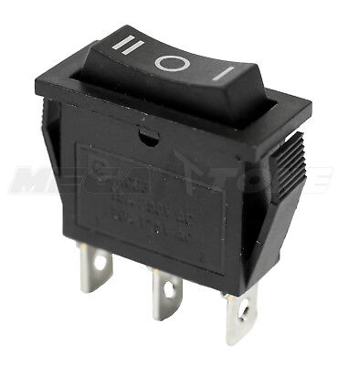 NEW SPDT ON-OFF-ON Rocker Switch w/Black Actuator KCD3 20A/125VAC - USA (Actuated Switch)