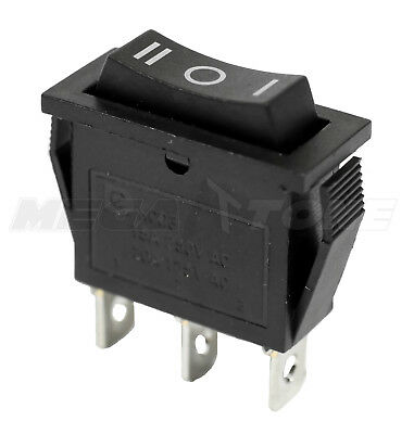 New Spdt On-off-on Rocker Switch Wblack Actuator Kcd3 20a125vac - Usa Seller
