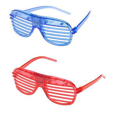 1 Red 1 Blau Blinkende LED Shutter Brille Aufleuchtend Schlitz Party Glow Shades