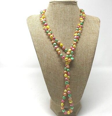 Freshwater Pearl Knotted Necklace 58