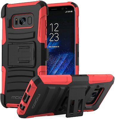 Samsung Galaxy S8 Plus Shockproof w/ Kickstand Belt Clip Holster Cover Case NEW