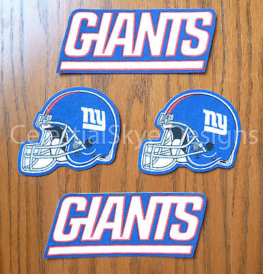 Iron On Sew On Transfer Applique New York Giants Handmade Cotton Patches