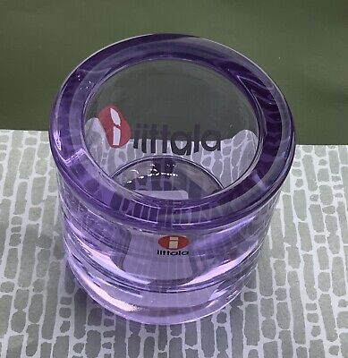 Iittala KIVI 60mm Votive Tealight Candle Holder Rare Discontinued. Lavender