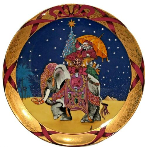 "Bing & Grondahl Christmas Around the World 1996 Santa in the Orient 8"" Plate"