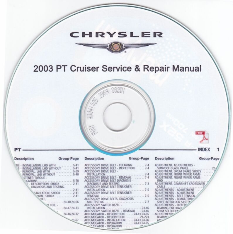 chrysler pt cruiser repair manual ebay. Black Bedroom Furniture Sets. Home Design Ideas