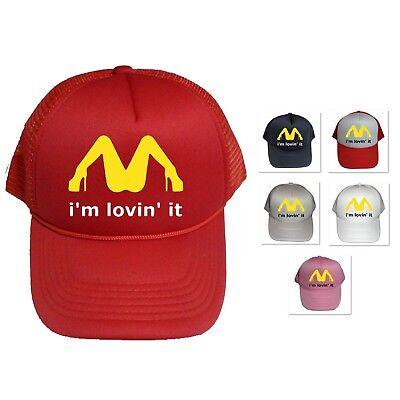 I'M LOVIN' IT MCDONALD'S PARODY COLLEGE FUNNY DIRTY ADULT GIFT CAP HAT - Funny Trucker Hats