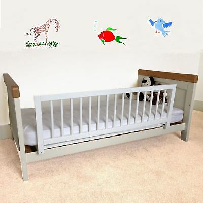 Safetots Wooden Bed Rail Children's Bed Guard White Bedguard Deluxe Bedrail