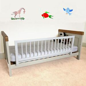 Safetots Childrens Wooden Bed Rail Deluxe Toddler Guard White Wood