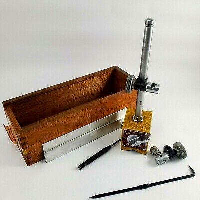 Vintage Machine Tooling Enco No.i 340 Magnetic Base Surface Gauge Wstorage Box