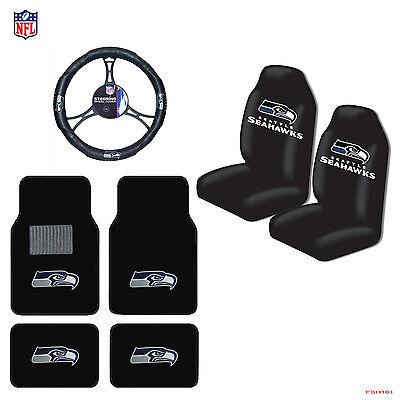 NFL Seattle Seahawks Car Truck Seat Covers Floor Mats Steeri