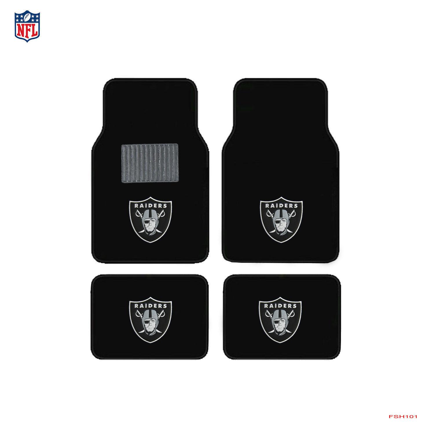 New 4pcs NFL Pick Your Team Car Truck Front Rear Back Carpet Floor Mats Set