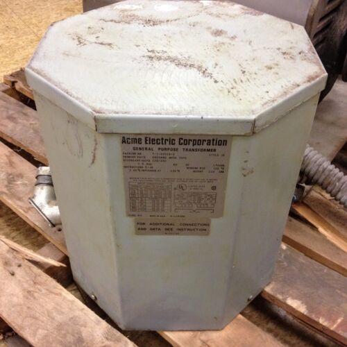 Acme 7.5 KVA Transformer 240/480V - 120/240V Cat # T-1-52515-3