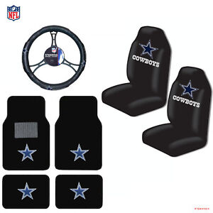 New NFL Dallas Cowboys Car Truck Seat Covers Floor Mats Steering Wheel Cover