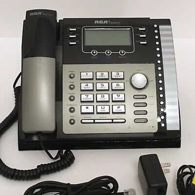 Rca Telefield 4-line Unison Desk Phone System Base Station 25424re1 Tested