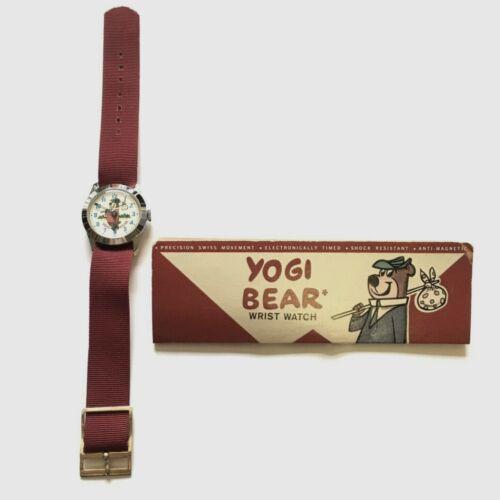 VTG YOGI BEAR CHARACTER WRIST WATCH 1963 SWISS MOVEMENT -WARRANTY CARD-WORKING